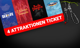 4 Attraktionen Ticket Berlin Dungeon